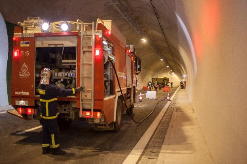 Large scale drill at the new Mavra Litharia Tunnels